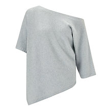 Buy Weekend by MaxMara Cashmere-wool Blend Asymmetrical Hem Jumper, Azure Online at johnlewis.com