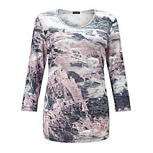 Buy Gerry Weber Burnout Jersey Top, Blue/Lilac/Pink Online at johnlewis.com