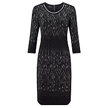 Buy Gerry Weber Knit Dress, Black/Grey Online at johnlewis.com