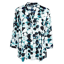 Buy Gerry Weber Circle Print Top, Silver/Wasabi Online at johnlewis.com