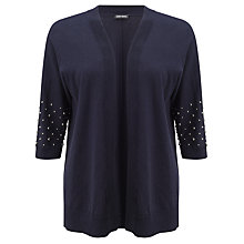 Buy Gerry Weber Stud Detail Cardigan, Indigo Online at johnlewis.com