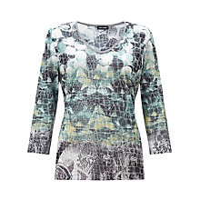 Buy Gerry Weber Mesh T-shirt, Grey/Green Online at johnlewis.com