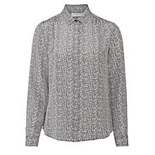 Buy Weekend by MaxMara Silk Shirt, Ultramarine Online at johnlewis.com