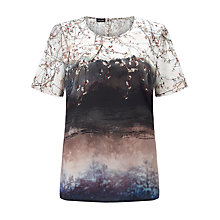 Buy Gerry Weber Blossom Tree Top,  Rose/Indigo Online at johnlewis.com