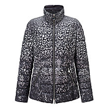 Buy Gerry Weber Leopard Print Coat, Grey Online at johnlewis.com