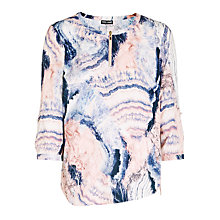 Buy Gerry Weber Mix Print Blouse, Rose/Indigo Online at johnlewis.com