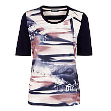 Buy Gerry Weber Satin Front Printed T-Shirt, Multi Online at johnlewis.com