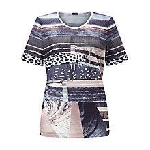 Buy Gerry Weber Mesh T-shirt, Lilac/Pink/Blue Online at johnlewis.com