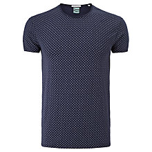 Buy Scotch & Soda Paisley Crew Neck T-Shirt, Navy Online at johnlewis.com