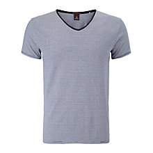 Buy Scotch & Soda V-Neck Stripe T-Shirt, Navy/Grey Online at johnlewis.com