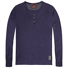 Buy Scotch & Soda Grandad Long Sleeve T-Shirt, Night Online at johnlewis.com