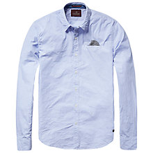 Buy Scotch & Soda Poplin Shirt, Blue Print Online at johnlewis.com