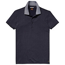 Buy Scotch & Soda Jersey Paisley Polo Shirt, Navy Online at johnlewis.com
