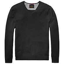 Buy Scotch & Soda V Neck Jumper, Graphite Melange Online at johnlewis.com