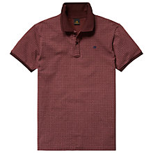 Buy Scotch & Soda Geo Print Polo Shirt, Burgundy Online at johnlewis.com