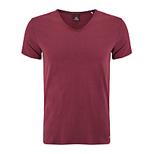 Buy Scotch & Soda V-Neck T-Shirt, Burgundy Online at johnlewis.com