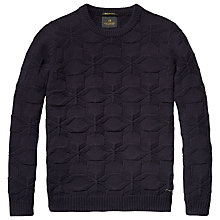 Buy Scotch & Soda Textured Jumper, Night Online at johnlewis.com