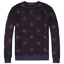 Buy Scotch & Soda Giant Spot Jumper, Navy Online at johnlewis.com