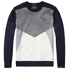 Buy Scotch & Soda Wool Colour Block Jumper, Grey Online at johnlewis.com