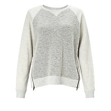 Buy Collection WEEKEND by John Lewis Textured Zip Detail Sweatshirt Online at johnlewis.com