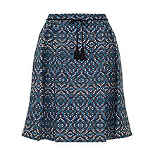 Buy Collection WEEKEND by John Lewis Geo Print Jacquard Midi Skirt, Blue Online at johnlewis.com