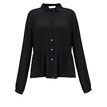 Buy Collection WEEKEND by John Lewis Soft Gathered Blouse, Black Online at johnlewis.com