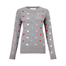 Buy Collection WEEKEND by John Lewis Mini Heart Jumper, Grey Online at johnlewis.com