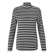 Buy John Lewis Roll Neck Stripe Top Online at johnlewis.com
