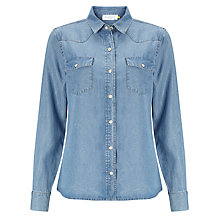 Buy Collection WEEKEND by John Lewis Denim Shirt, Mid Blue Online at johnlewis.com