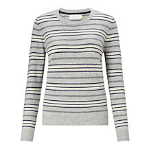 Buy Collection WEEKEND by John Lewis Crew Neck Cashmere Stripe Jumper Online at johnlewis.com