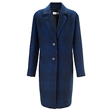 Buy Collection WEEKEND by John Lewis Wool Coat, Blue/Black Online at johnlewis.com