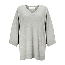 Buy Collection WEEKEND by John Lewis Cashmere Blend Poncho, Grey Marl Online at johnlewis.com