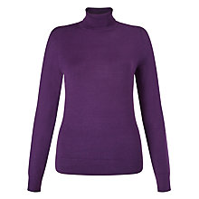 Buy John Lewis Ribbed Hem Roll Neck Jumper Online at johnlewis.com