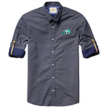 Buy Scotch & Soda Dot Print Shirt, Navy Online at johnlewis.com