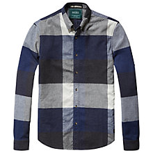 Buy Scotch & Soda Check Brushed Shirt, Blue Online at johnlewis.com