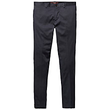 Buy Scotch & Soda Satin Slim Leg Chinos, Night Online at johnlewis.com