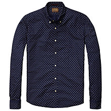 Buy Scotch & Soda Oxford Print Shirt, Navy Online at johnlewis.com