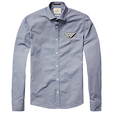 Buy Scotch & Soda Contrast Fold Pocket Shirt, Grey Check Online at johnlewis.com