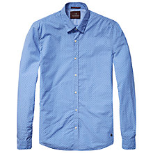 Buy Scotch & Soda Spot Print Shirt, Blue Online at johnlewis.com