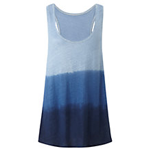 Buy Jigsaw Linen Tie Dye Tank Top, Blue Online at johnlewis.com