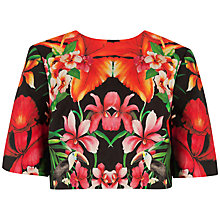 Buy Ted Baker Racida Tropical Toucan Print Crop Top, Black Online at johnlewis.com
