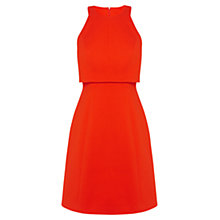 Buy Karen Millen Double Layer A-Line Dress, Orange Online at johnlewis.com