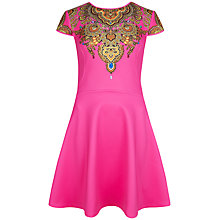 Buy Ted Baker Jewel Paisley Neoprene Dress, Bright Pink Online at johnlewis.com