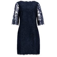 Buy Ted Baker Laavia Wide Sleeve Lace Dress, Dark Blue Online at johnlewis.com