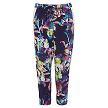 Buy Karen Millen Floral Print Sporty Trousers, Black Multi Online at johnlewis.com