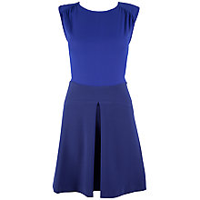 Buy Closet Pleat A-line Skirt Dress, Blue Online at johnlewis.com