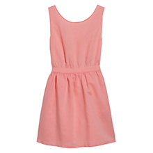 Buy Mango Bow Cut-Out Dress, Coral Online at johnlewis.com