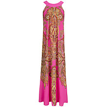 Buy Ted Baker Jewel Paisley Maxi Dress, Bright Pink Online at johnlewis.com