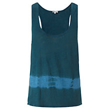 Buy Jigsaw Linen Tie Dye Tank Top, Teal Online at johnlewis.com