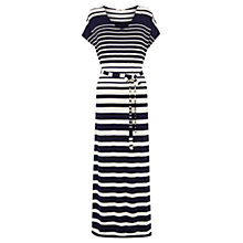 Buy Oasis Engineered Stripe Kimono Maxi Dress, Multi Blue Online at johnlewis.com